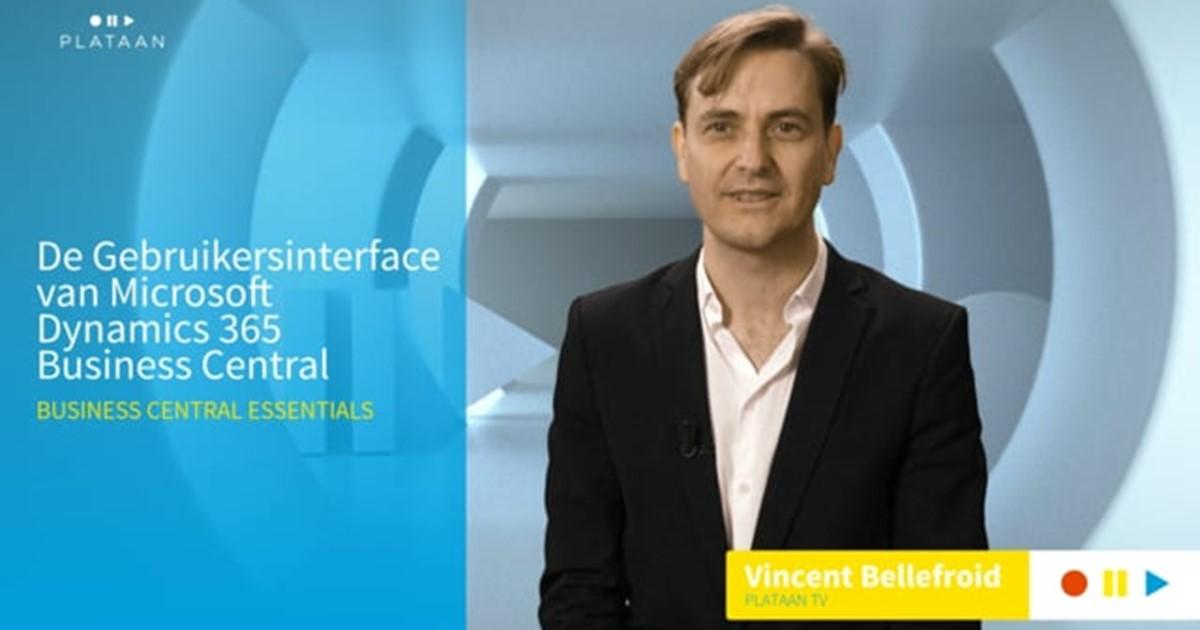 De Gebruikersinterface van Microsoft Dynamics 365 Business Central