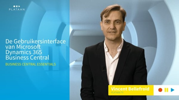 Online video training, De Gebruikersinterface van Microsoft Dynamics 365 Business Central