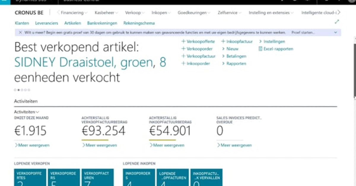 Starten met Dynamics 365 Business Central